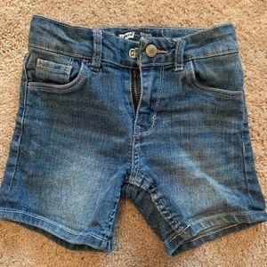 Levi's Jean shorts heart shaped pockets
